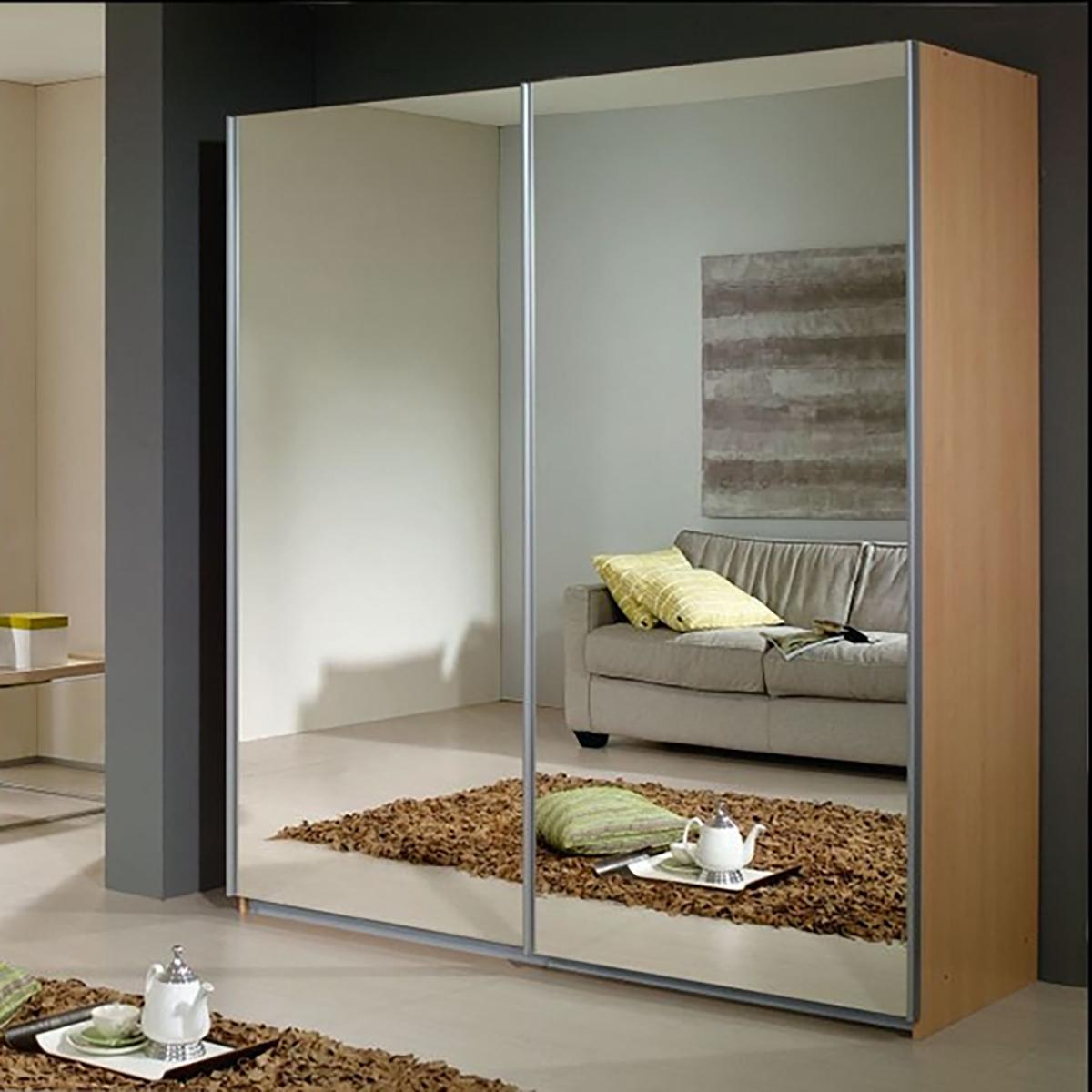 3-дверный шкаф-купе smc-147 с декоративным зеркалом серебро.