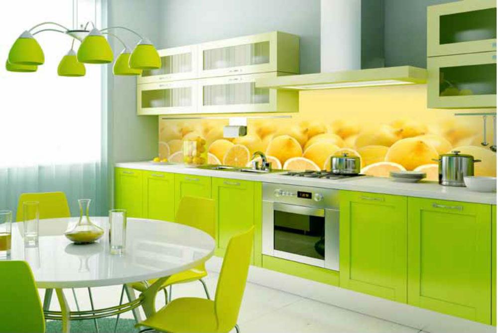 Кухни с фартуком цветы фото