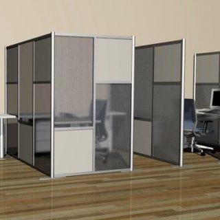 Перегородки для офиса: панели из тонированного матового стекла.  Толщина стекла: 8 мм. Размеры: 200см(высота)х150см(длина)х50см(ширина)  Установка не входит в стоимость.