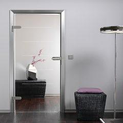 стеклянная дверь с притвором
