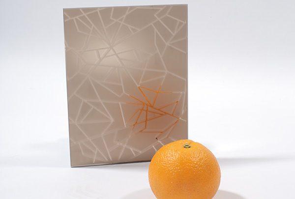 зеркало сатин «геометрия». бронза