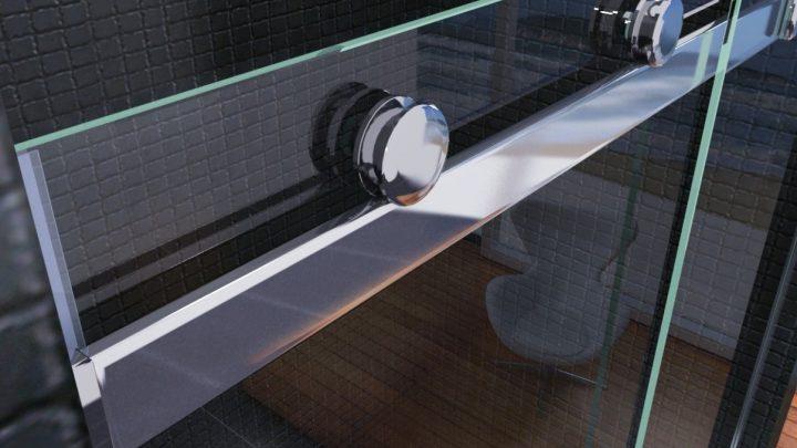 1-створчатая душевая кабина с раздвижной дверью