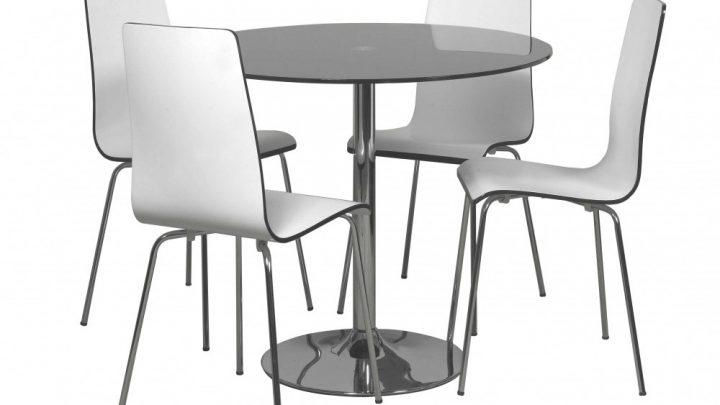 круглый стол из тонированного стекла