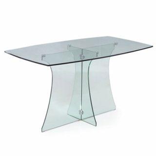 """Столполностью выполнен из закаленного стекла. Почти незаметные крепежи и легкая конструкция из стеклянных ножек делает эту модель невероятно стильной и утонченной. Освежите свой интерьер стеклянным столом.  Толщина: 8 мм Размеры: 700мм(высота)х700мм(длина)х400мм(ширина)    [contact-form-7 id=""""2692"""" title=""""Заказать обратный звонок""""]"""
