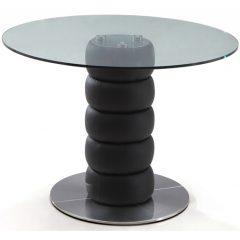 стол черный круглый