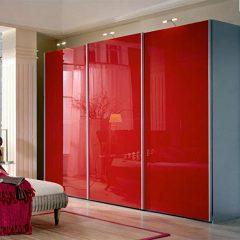 3-дверный Красный шкаф-купе REF-1586
