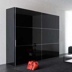 Черный 2-дверный корпусный шкаф-купе Мателак-9005