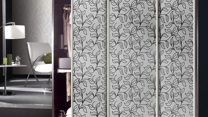 3-дверный шкаф-купе GM-6009 Серебро с рисунком