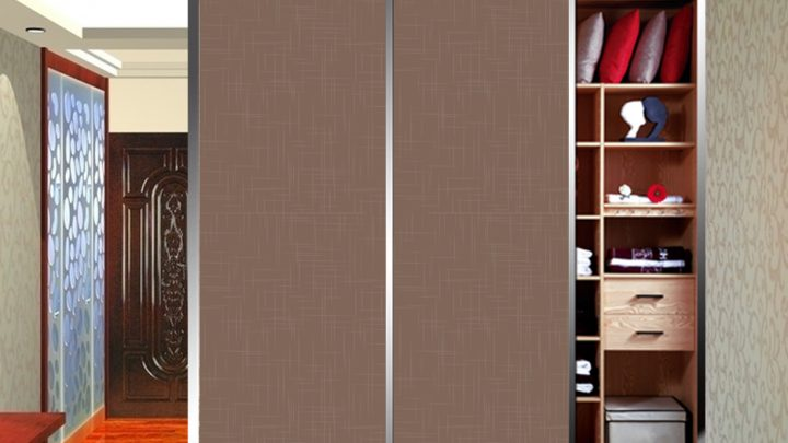 2-дверный шкаф-купе с декоративной пленкой Созвездие цвет Бронза