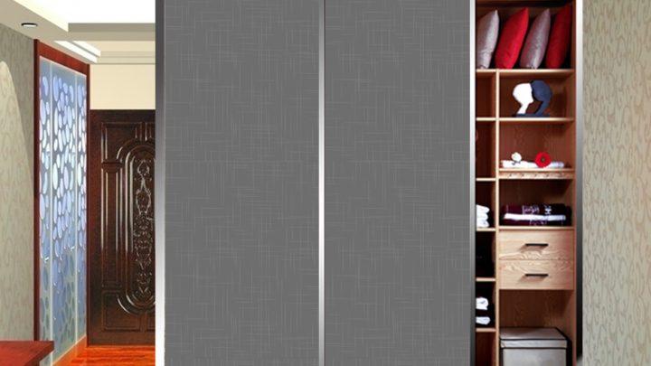 2-дверный шкаф-купе с декоративной пленкой Созвездие цвет Серебро