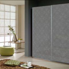 2-дверный шкаф-купе с зеркалом Фридланд цвет Серебро