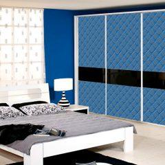 синий 2-дверный шкаф-купе в спальню