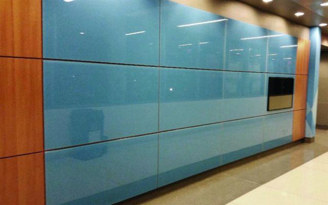 декоративные стенные панели из стекла