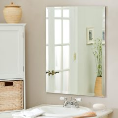 зеркало без рамы в ванную