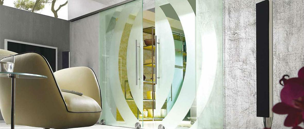 стеклянные декоративные двери в москве