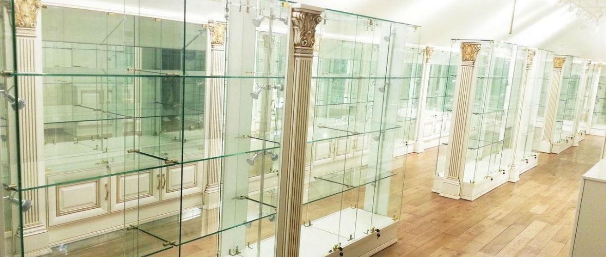 витринные стеклянные двери в москве