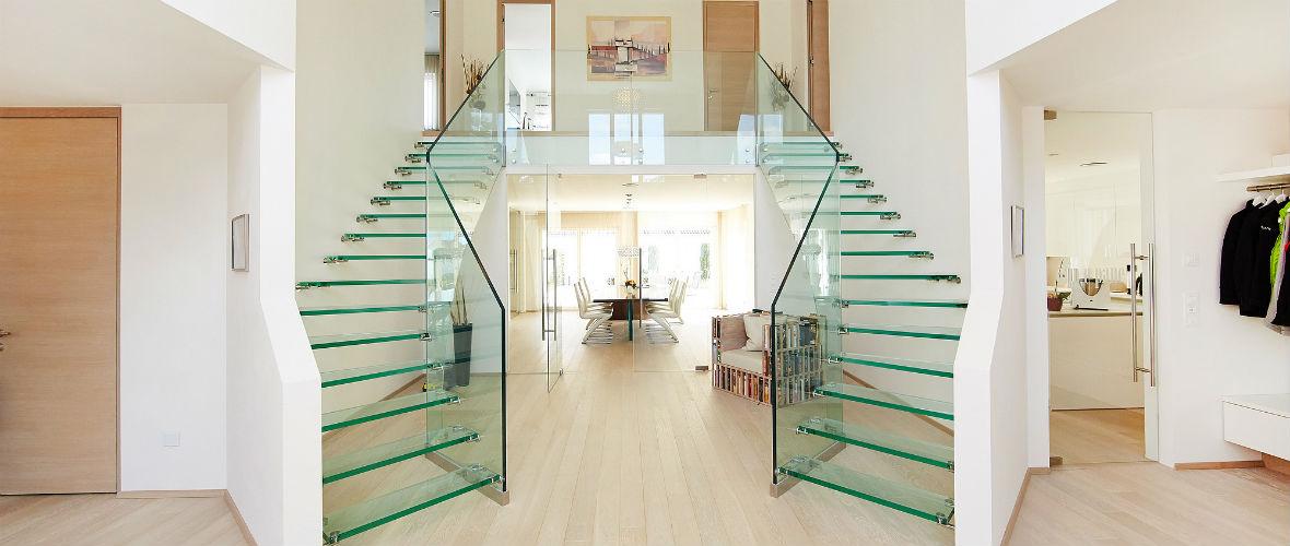 стеклянные лестницы на второй этаж в москве