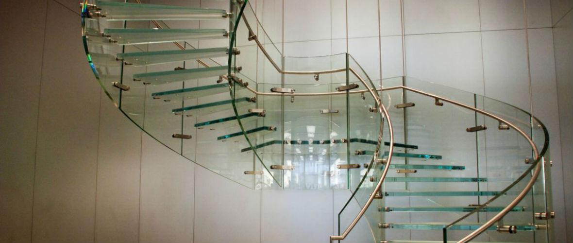 стеклянные винтовые лестницы в москве