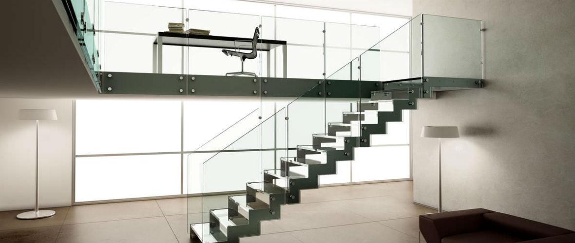 стеклянные лестницы на второй этаж